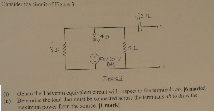 Consider the circuit of Figure 3. Figure 3 Obtai
