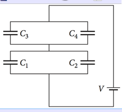 The capacitors in the circuit shown in the figure