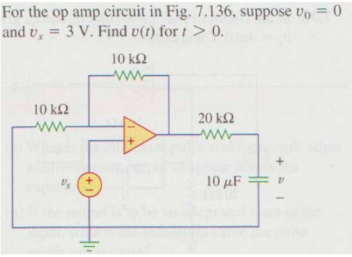 For the op amp circuit in Fig. 7.136, suppose v0 =