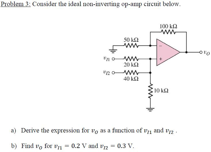 Consider the ideal non-inverting op-amp circuit be