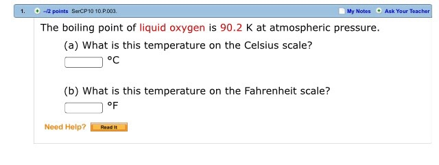 What is the boiling point of oxygen?