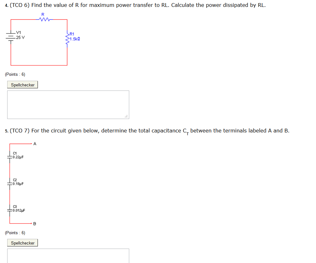 Find the value of R for maximum power transfer to