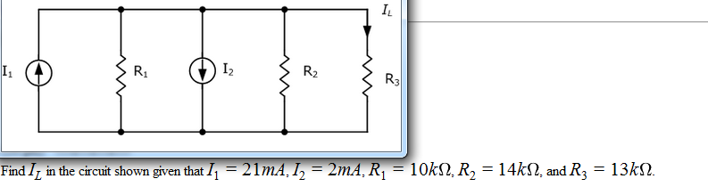 Find I L in the circuit shown given that I1 = 21