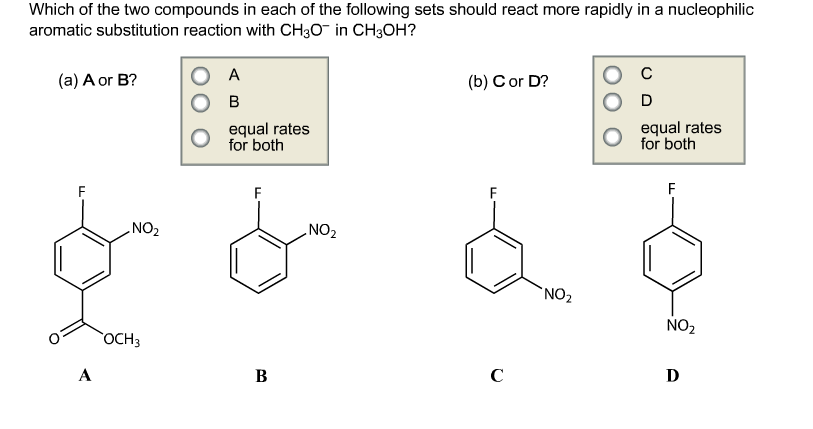 Which of the two compounds in each of the followin