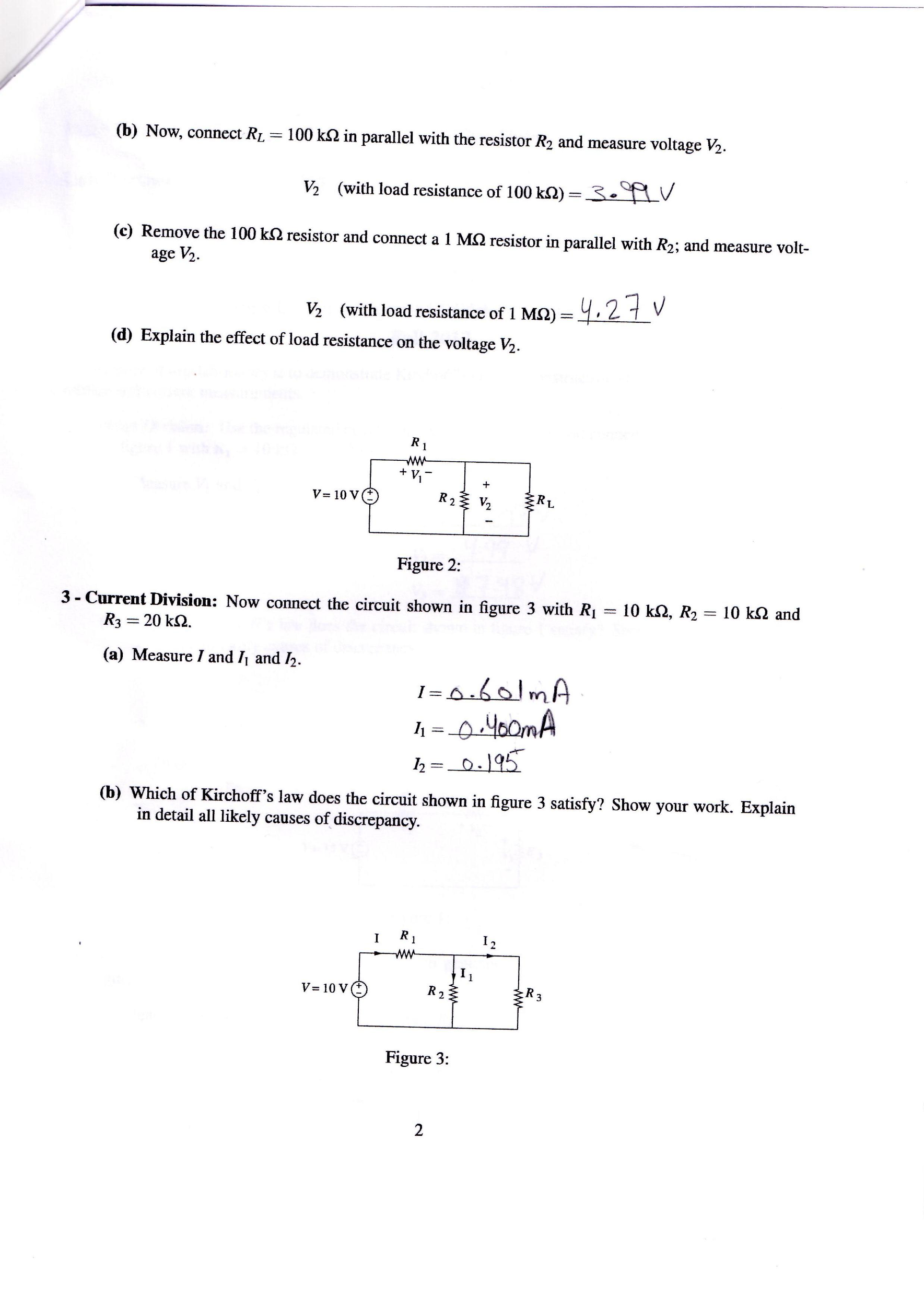 Now, connect RL = 100 k Ohm in parallel with the r