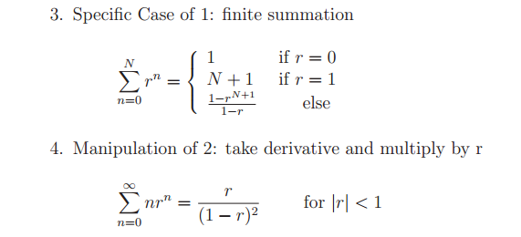 Specific Case of 1: finite summation Manipulation
