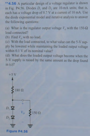 A particular design of a voltage regulator is show