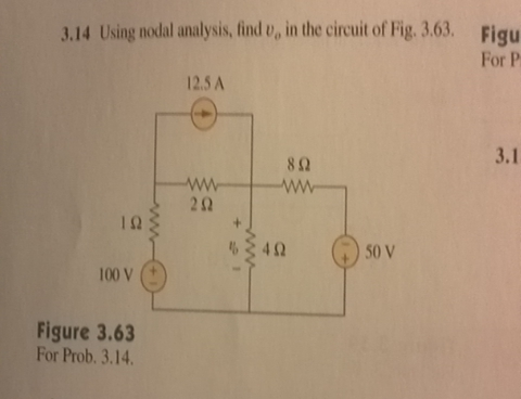 Using nodal analysis, find m vo in the circuit of