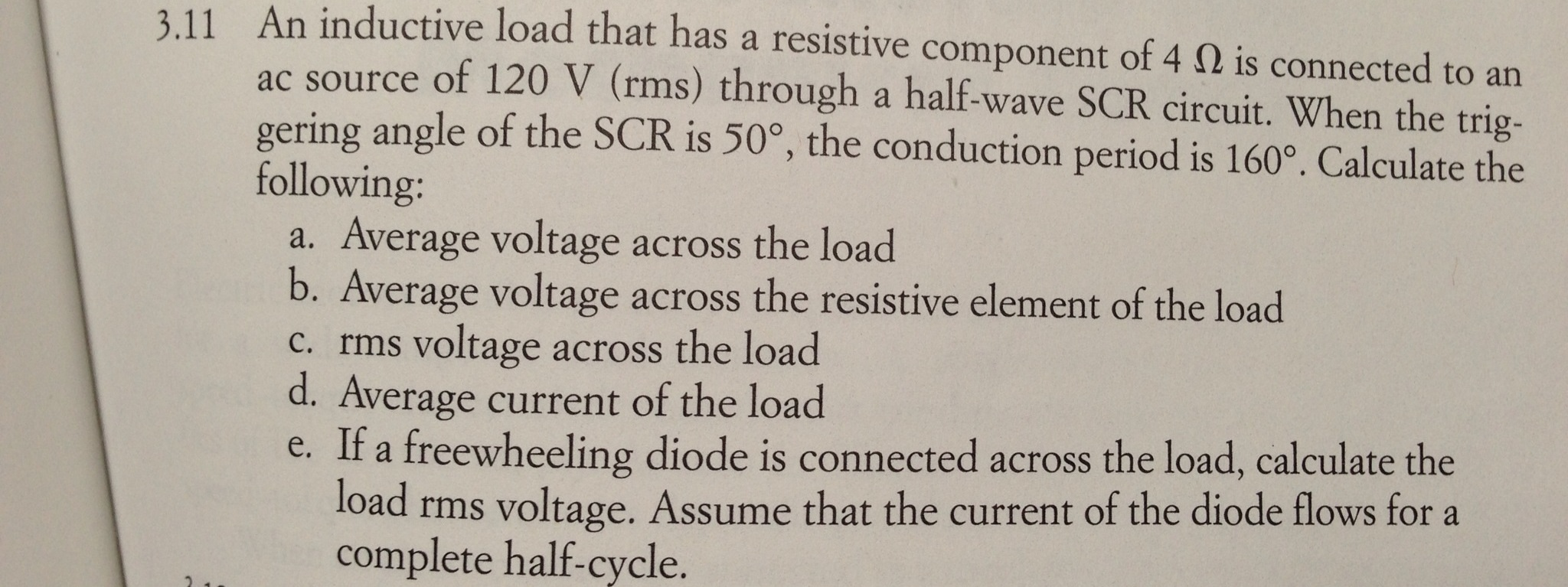 An inductive load that has a resistive component o