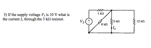 If the supply voltage Vs is 10 V what is the curre