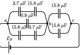 Consider the capacitor circuit Find the equivalent