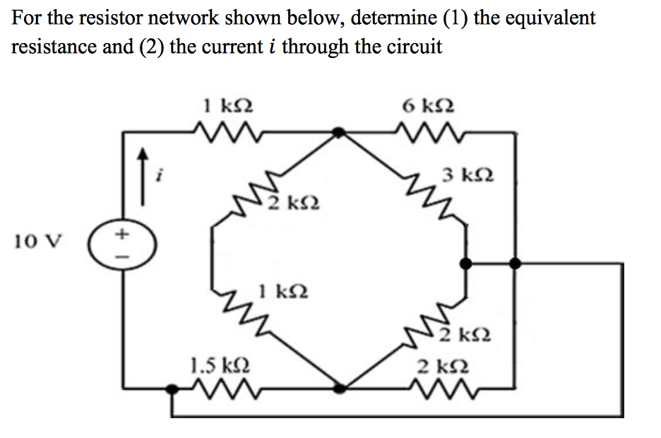 solved  for the resistor network shown below  determine  1