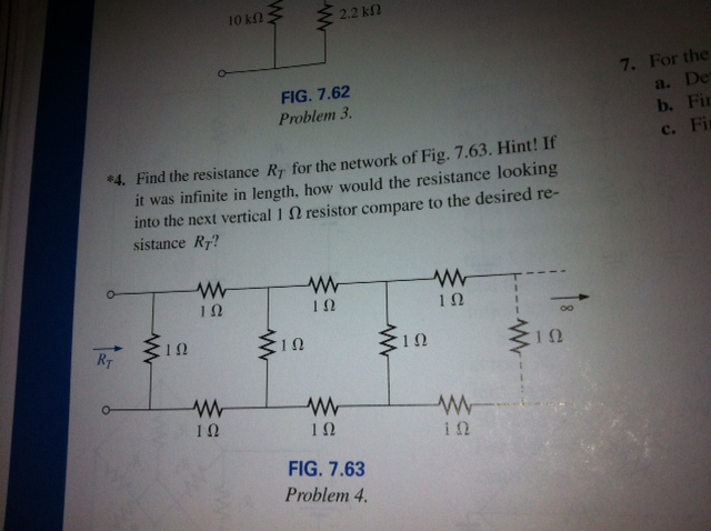 Find the resistance RT for the network of Fig. 7.6