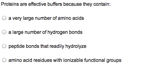 Proteins are effective buffers because they contai