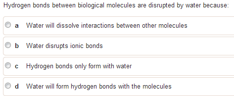 Hydrogen bonds between biological molecules are di