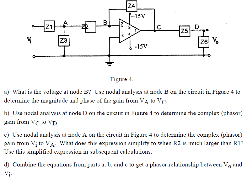 Figure 4. What is the voltage at node B? Use noda