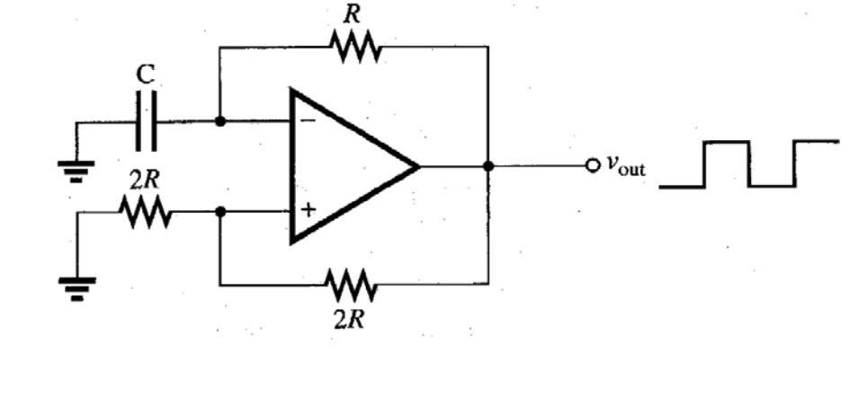 solved  this circuit is a square wave generator  derive th