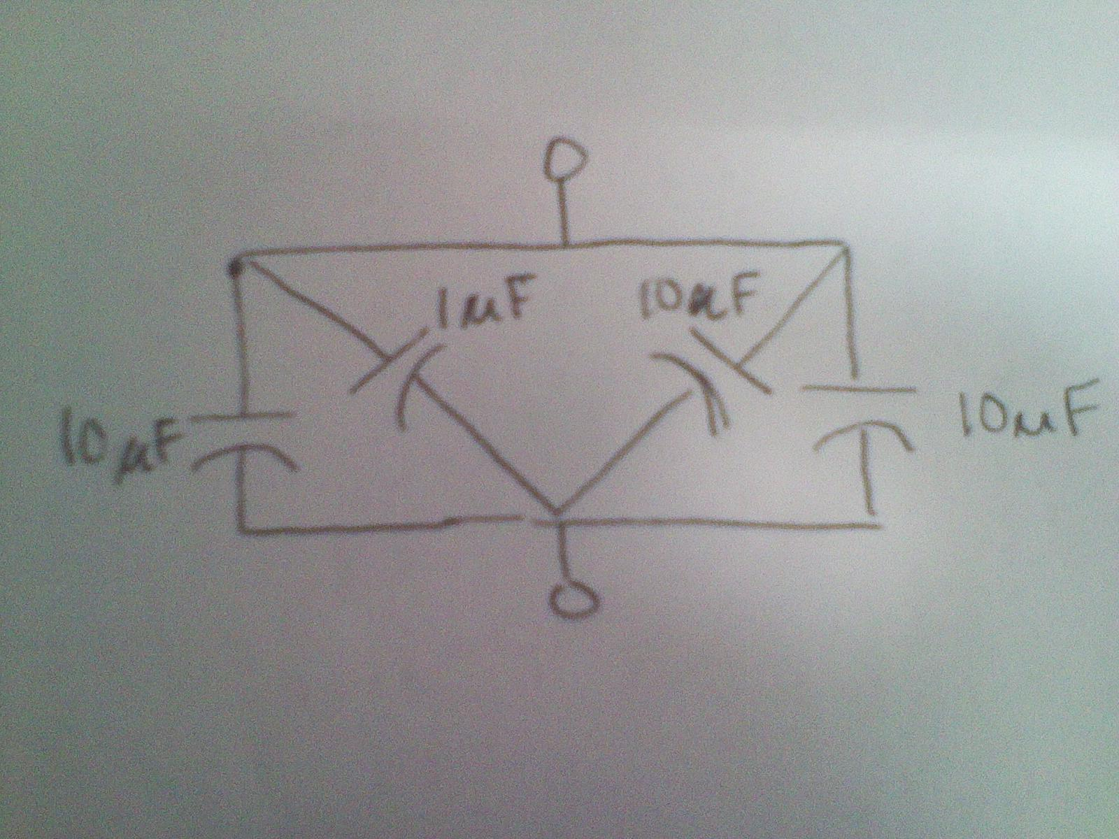 What is the total capacitance in the picture? Plea
