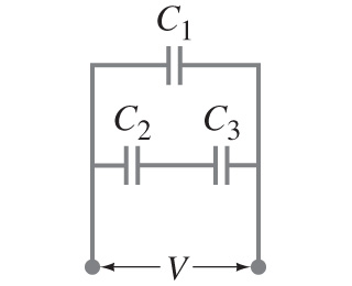 In the figure (Figure 1) , if , C1=C2=2C3=29.4 mic