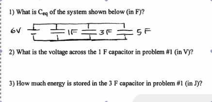 What is Ceq of the system shown below (in F)? Wha