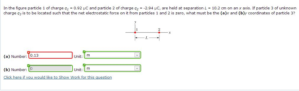 In the figure particle 1 of charge q = 0.92 mu C a