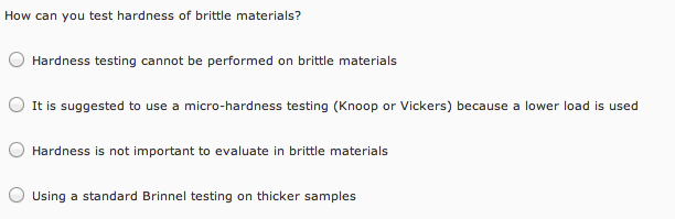 micro-hardness & toughness of brittle materials essay 109 5 comparison of fracture toughness of paper with tensile properties 51 introduction the importance of in-plane fracture toughness (ft) measurement of paper in terms of web runnability and quality control is well understood.