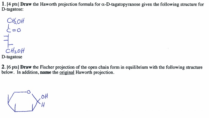 Draw the Haworth projection formula for a-D-tagato