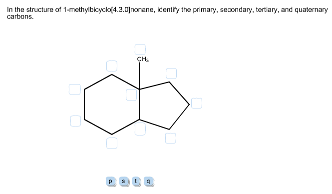 In the structure of 1-methylbicyclo[4.3.0]nonane,