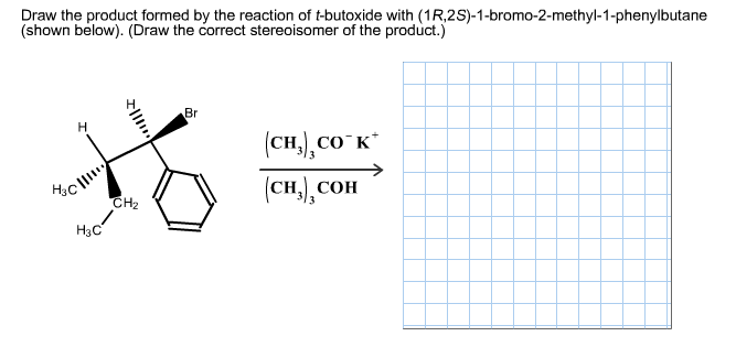Draw the product formed by the reaction of f-butox