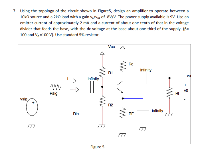 Using the topology of the circuit shown in the Fig