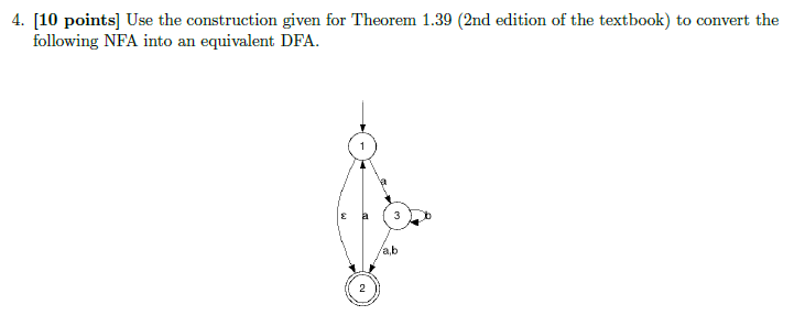 Use the construction given for Theorem 1.39 (2nd e