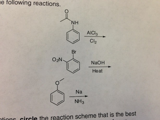 Following reactions the reaction scheme that is t