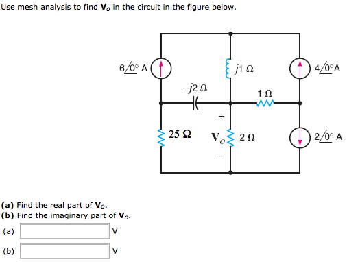 Use mesh analysis to find V0 in the circuit in the