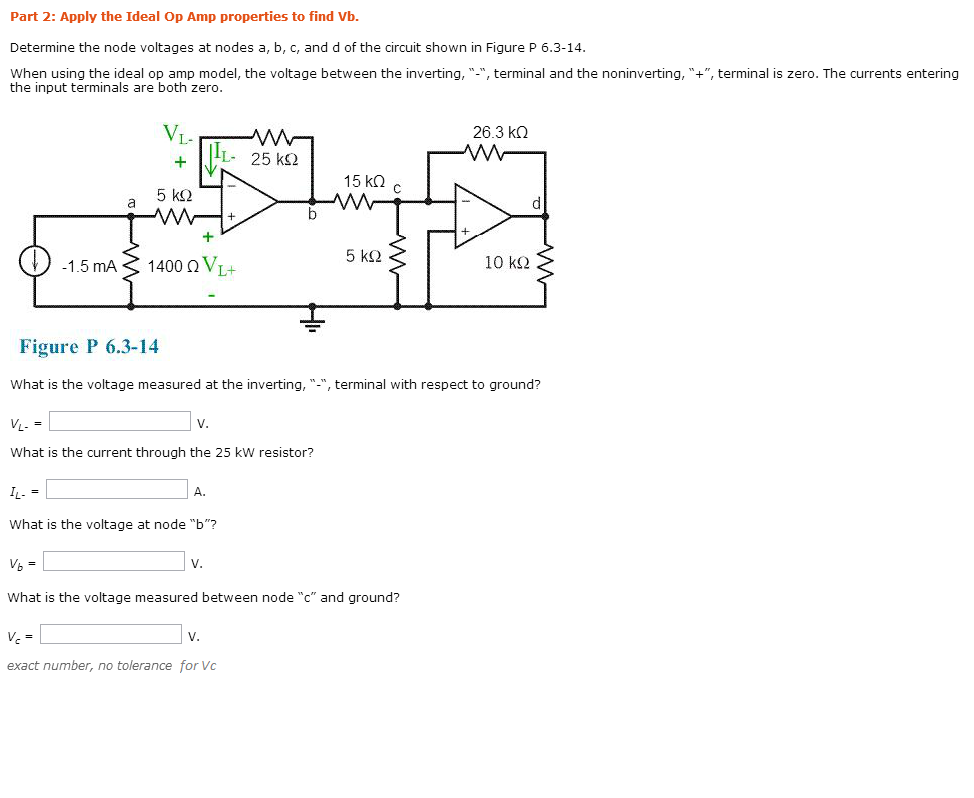 Determine the node voltages at nodes a, b, c, and
