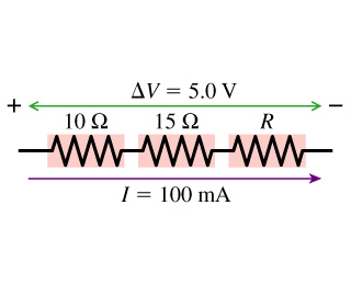What is the value of resistor R in the figure?