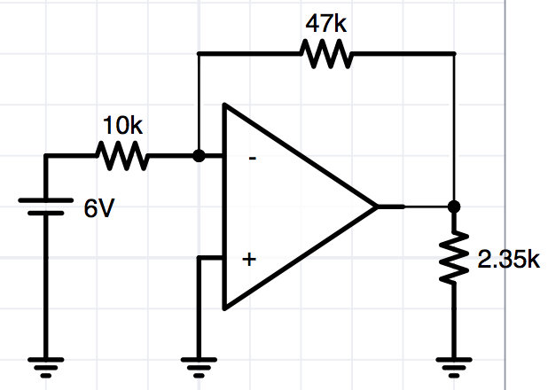 Find The voltage across the 2.35KOhm and the curre