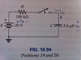 For the circuit in Fig.10.94, composed of standard
