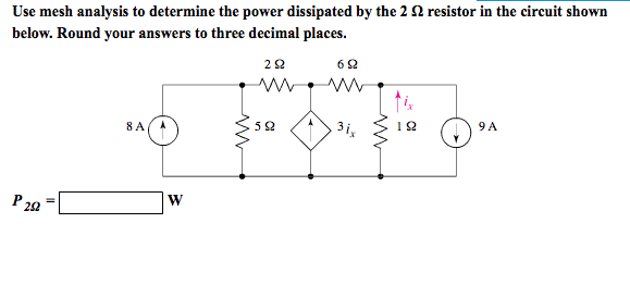 solved  use mesh analysis to find ir in the circuit shown