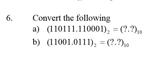 Binary conversion to base 10