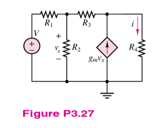 Find the Thevenin equivalent circuit as seen by R4
