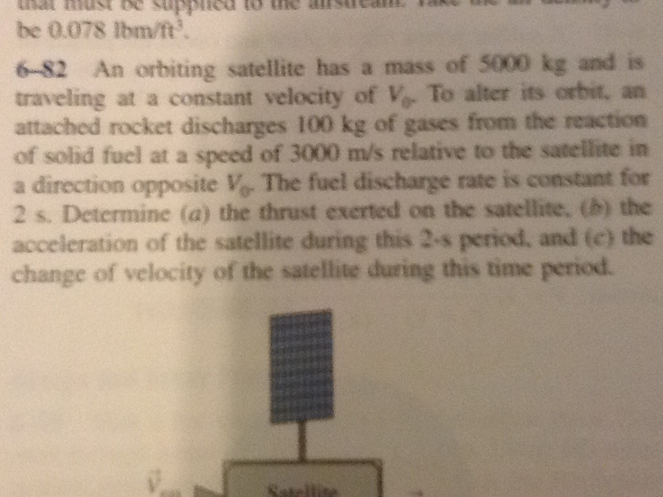 An orbiting satellite has a mass of 5000 kg and is