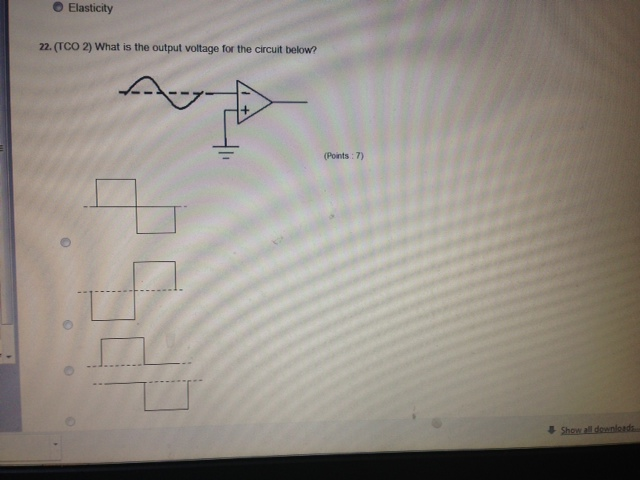 What is the output voltage for the circuit below?
