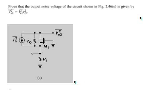Prove that the output noise voltage of the circuit
