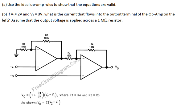 Use the ideal op-amp rules to show that the equati