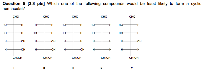 Which one of the following compounds would be leas