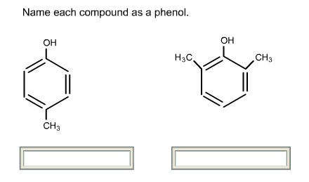 Name each compound as a phenol.