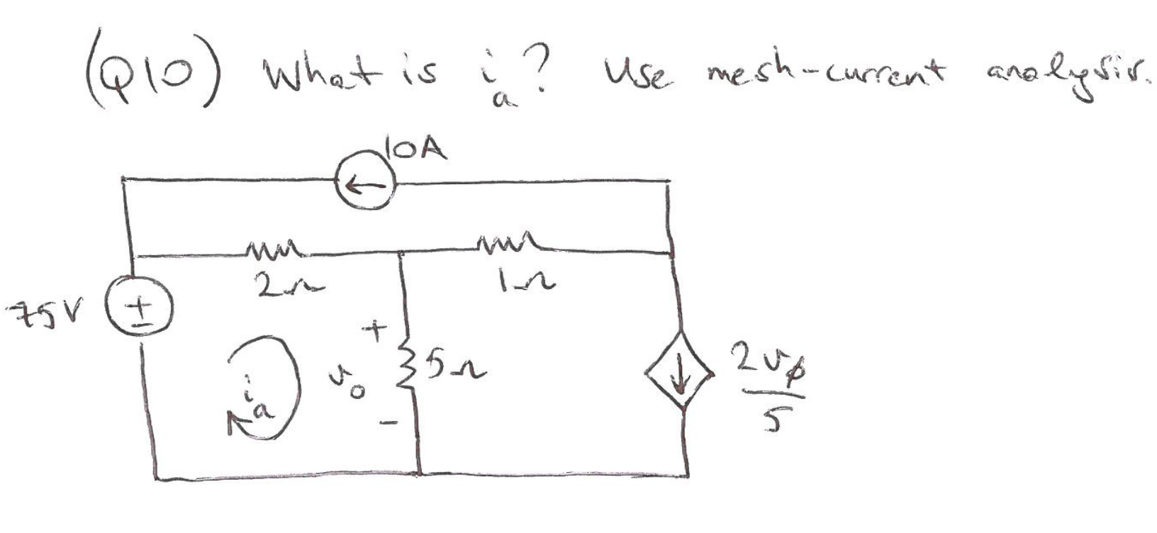 What is ia ? Use mesh current analysis.