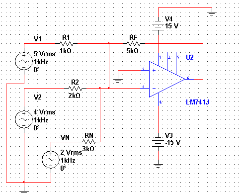 How do you calculate the output voltage of the add