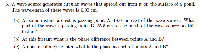 A wave source generates circular waves that spread