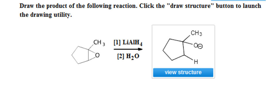 Draw the product of the following reaction. Click